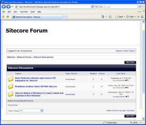 This example shows how YAF used the information from the dropdown to display one forum only.