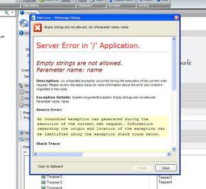 addAspxExtension=false error