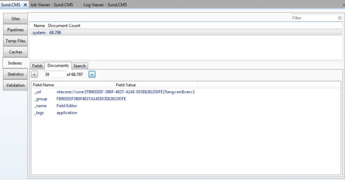 Sitecore Rocks - View and search in indexes