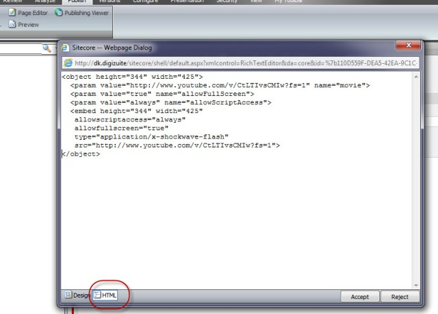 Pasting Object HTML directly to the Rich Text Editor