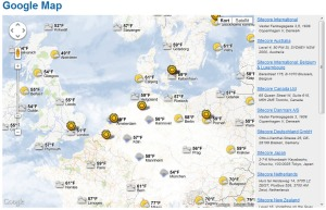 Google Map Weather and Cloud Map