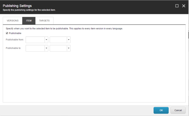 Sitecore Publishing Settings