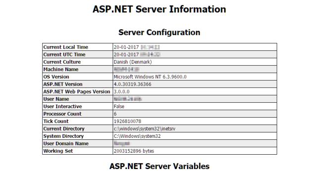 .ASP Net Server Info