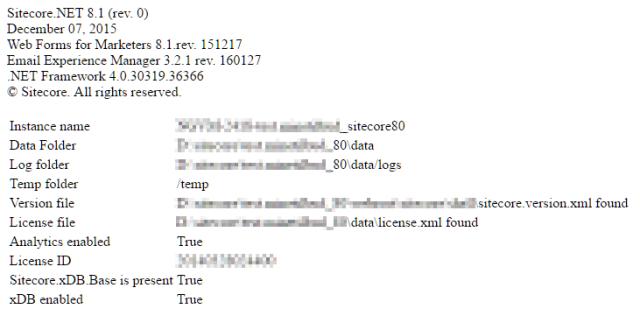 Sitecore System Info