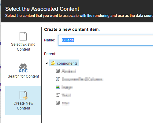 Select the Associated Content