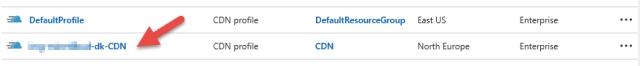 Azure CDN Profile
