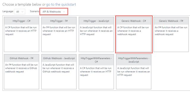 Create Generic Webhook
