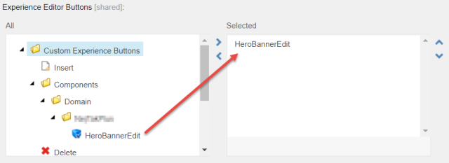 The button is added to the Experience Editor Buttons